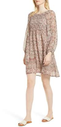 Velvet by Graham & Spencer Sebastian Printed Smocked Dress