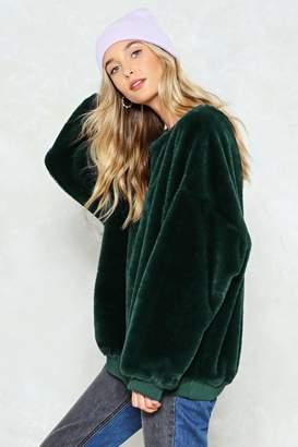 Nasty Gal Have It Easy Faux Fur Sweatshirt