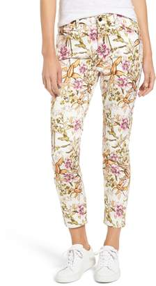 Jen7 Floral Print Ankle Skinny Jeans