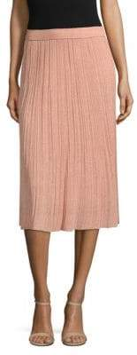 M Missoni Solid Lurex Plisse Skirt