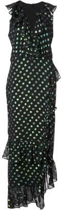 Saloni polka dot asymmetric dress