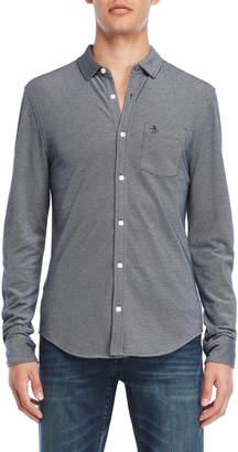 Original Penguin Knit Pocket Oxford Shirt
