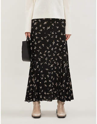 Free People Ruby's Forever floral-print crepe maxi skirt