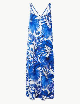Marks and Spencer Palm Print Strappy Slip Beach Dress