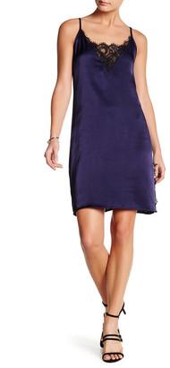 Socialite Lace Detail Slip Dress $68 thestylecure.com