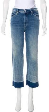 Mother Undone Hem Maverick Mid-Rise Jean