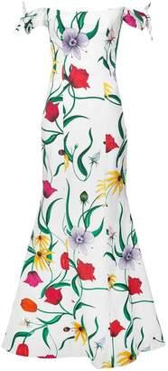 Carolina Herrera off the shoulder floral gown