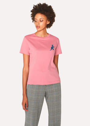 Paul Smith Women's Pink Small 'Dino' Print Cotton T-Shirt