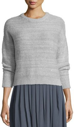 Peserico Crewneck Sweater with Sequins $565 thestylecure.com