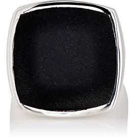 Tom Wood Women's Flush Signet Ring - Silver