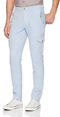 Michael Bastian Men's Signature Linen Cotton Oxford Cargo Pant