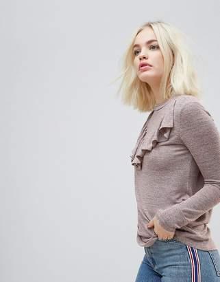 Hazel Frill Front Knit Sweater