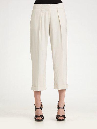 Milly High-Waist Silk Trousers
