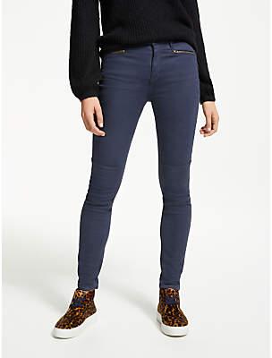 Brighton Biker Skinny Jeans, Whale Grey