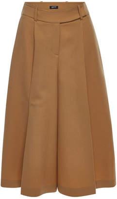 Jil Sander Navy Fleece Wool Culottes