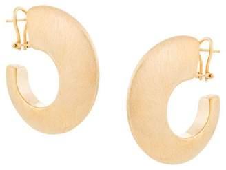 Maison Rabih Kayrouz brushed hoop earrings