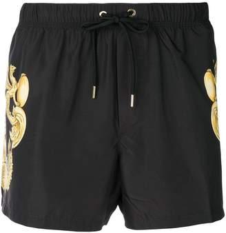 Versace drawstring baroque print shorts