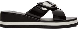 Ancient Greek Sandals Thais Rainbow Leather Wedge Sandals - Womens - Black