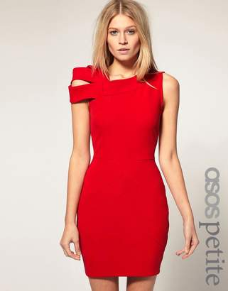 Asos Exclusive Bodycon Dress With Shoulder Deatil
