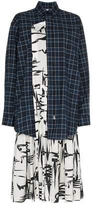 Balenciaga silk layered shirt dress