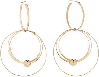 Lana Flat Wire Mixed Hoop Drop Earrings