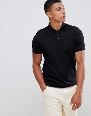 J. Lindeberg Troy clean pique polo in black