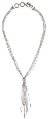 David Yurman Diamond Willow Tassel Necklace