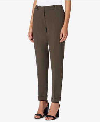 Tahari ASL Cropped Cuffed Pants, Regular & Petite