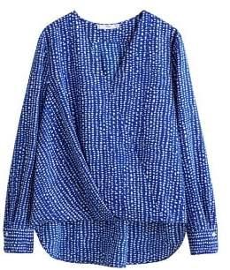MANGO Wrap printed blouse