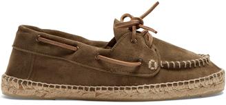 Hamptons suede deck shoes