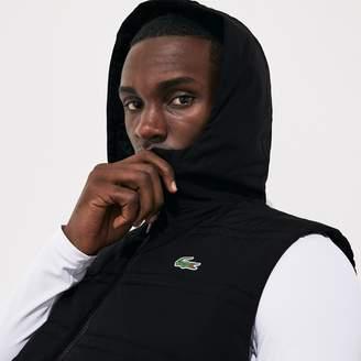 Lacoste Men's SPORT Hooded Quilted Rain Vest