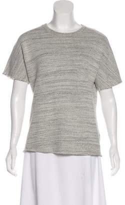 Anine Bing Short Sleeve Knit Top
