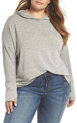 Caslon Off-Duty Hooded Sweatshirt (Plus Size)