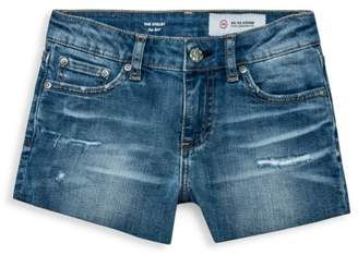 AG Adriano Goldschmied Kids Girl's The Selby Slouch Denim Shorts