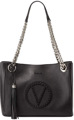 Mario Valentino Valentino By Luisa Rock Dollaro Studs Leather Tote Bag