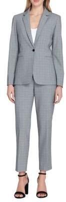 Tahari Arthur S. Levine Windowpane Jacket and Pant Suit