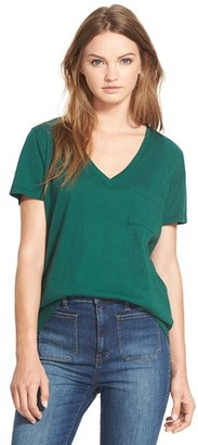 Women's Madewell 'Whisper' Cotton V-Neck Pocket Tee $19.50 thestylecure.com
