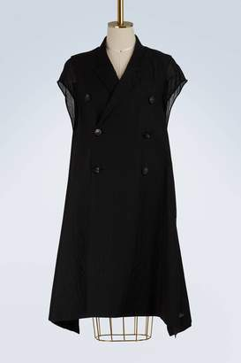 Rick Owens Wool sleeveless coat