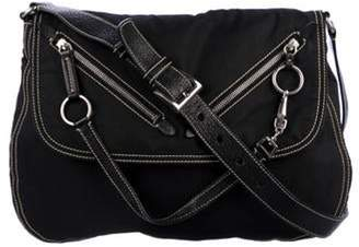 6ce10aef Prada Leather Messenger Bag - ShopStyle
