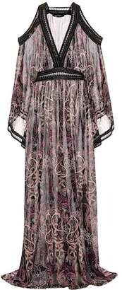 Roberto Cavalli Printed silk gown