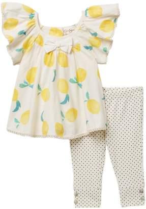 Jessica Simpson Lemon Top & Leggings Set (Baby Girls)