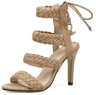 Goodnight Macaroon 'Katherine' Braided Strap High Heel Sandals