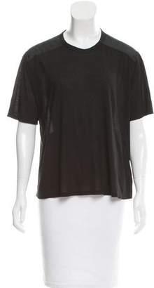 Alexander Wang Silk Oversize Short-Sleeve Top