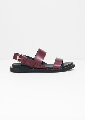 And other stories Diagonal Slingback Leather Sandals