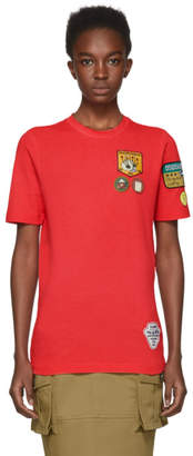 DSQUARED2 Red Patch T-Shirt