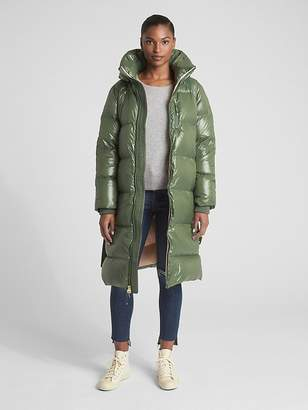 Gap Long High-Shine Down Puffer Coat