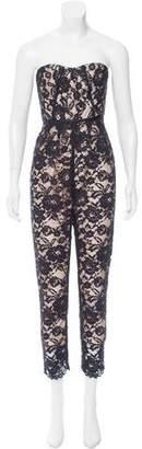 Tibi Strapless Guipure Lace Jumpsuit