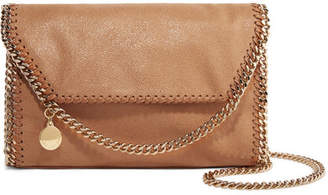 Stella McCartney The Falabella Faux Brushed-leather Shoulder Bag - Tan