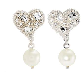 Miu Miu Crystal-embellished sterling-silver earrings