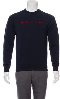 Christian Dior Embroidered Logo Sweatshirt